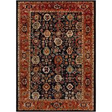 surya serapi black 9 ft x 13 ft indoor area rug