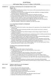 Resume For Internships Business Internship Resume Samples Velvet Jobs