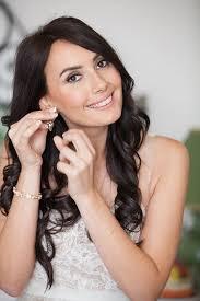 brunette bridal makeup and hair