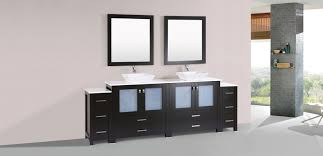 bathroom vanity with 2 side cabinets and vessel sinks view detailed images 4