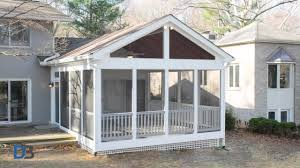 how much does a screened in porch cost 2017 prices to build 4 diy pertaining to aluminum screen porch framing system c1