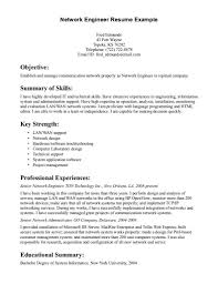 Sample Resume Of Network Engineer Network Engineer A4 Resume