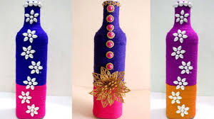 Wine Bottles Decoration Ideas DIY wine bottle home decoration idea Empty wine bottle 23