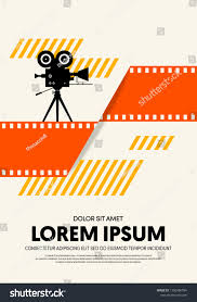 Movie Poster Design Template Movie Film Poster Design Template Background Stock Vector
