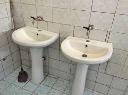 school bathroom. Conclusion Of Sheq I Madh School Bathroom And Water Project - Albania