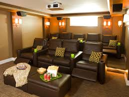 movie theater living room. living room with a movie theater in it