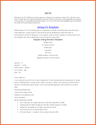 Beginners Acting Resume Acting Resume Example For Beginners Unique