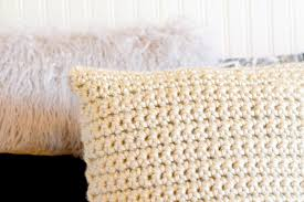 Crochet Pillow Patterns Mesmerizing Super Chunky Crochet Pillow Project Mama In A Stitch