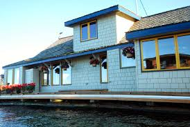 Side View Of The Sleepless In Seattle Houseboat