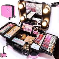 makeup kits for little girls. pro travel makeup kit with wheels ñ handle. **nib kits for little girls c