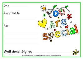 Kids Award Certificate Special Printable Certificates For Kids