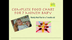 7 Month Baby Food Chart Food Chart For Babies 2