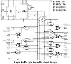 designing simple traffic light controller circuit