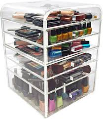 ediva variation med size clear acrylic makeup organizer over 100 makeup storage makeup