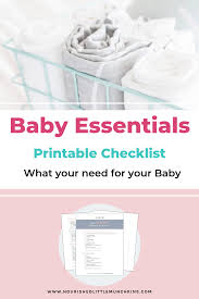 Free Printable Newborn Checklist The Must Have Baby