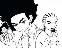 the boondocks coloring pages the boondocks coloring pages on coloring pages family guy boondocks coloring sheets