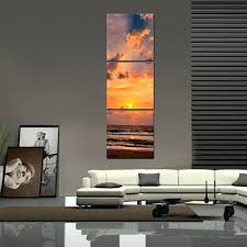 wall arts long vertical wall art fascinating pictures about wonderful seascape twilight beautiful skyline three