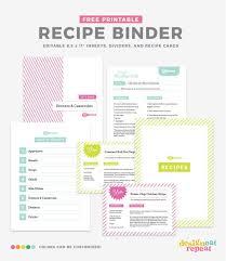 Free Printable Binder Templates Diy Recipe Book With Free Printable Recipe Binder Kit