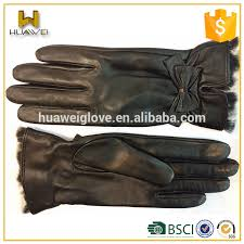 whole fashion rabbit fur lined winter women s leather gloves