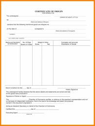 Blank Certificate Of Origin Template 237124473006 Generic