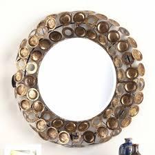 wall mirrors round decorative wall mirror brass threshold round with regard to barrel frame