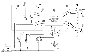 patent us ventilation blower controls employing air patent drawing