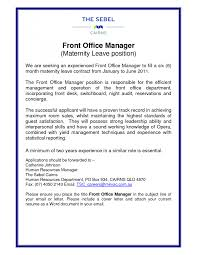Front Office Manager Resume Example 6