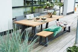 suns ovada garden table bench suns green collection 110x39 5 280x100cm