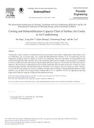 Pdf Cooling And Dehumidification Capacity Chart Of Surface