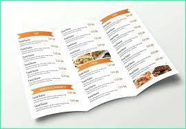 Take Out Menu Template Menu Brochure Template Word Elegant Menu Brochure Template