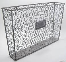 metal wall pocket organizer file holder