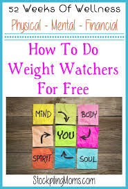 Weight Watchers Height Weight Chart How To Do Weight Watchers For Free Stockpiling Moms