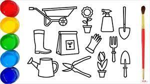 32+ Tranh tô màu dụng cụ nghề nông đơn giản cho bé tập tô