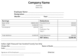 Employee Salary Slip Sample Extraordinary Payment Voucher Template Xls 48 Free Salary Slip Templates Word