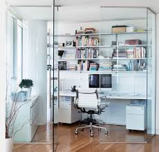 glass enclosed room partition