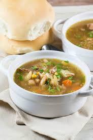 ham bone soup slow cooker is perfect