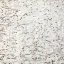 metallic silver faux leather fringe fabric on a white mesh backing 325401 11