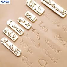 custom design leather hot foil embossing stamping leather craft handmade carving digital alphabet leather stamp diy mould