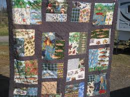 Cute Camping Quilt! - Making Things is Awesome & Close Up View of the Cute Camping Quilt! Adamdwight.com