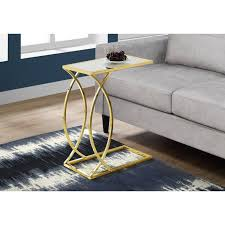 gold contemporary accent table