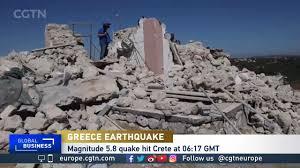 Earthquake hits Crete, killing one person - CGTN