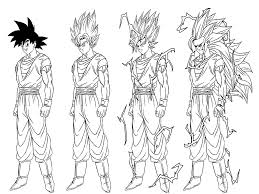 Bringing the characters to life with these pictures kids are sure to be enthralled. Transformation From Songoku To Son Goku Super Saiyajin 3 Dragon Ball Z Kids Coloring Pages