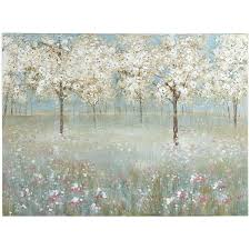 pier one imports wall decor art flower animal nature canvas paintings 1 cherry blossom tree decorations