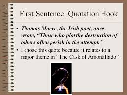 the introduction how to begin a quotation make sure the  3 first