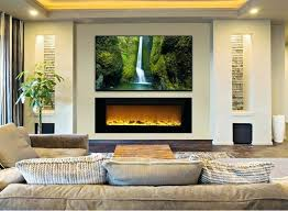 recessed tv over fireplace ideas wall mount for inch unique best recessed electric fireplace ideas on