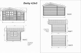diy garden office plans. key measurements for the derby garden building diy office plans