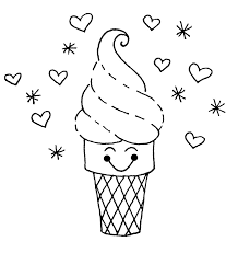 cute ice cream coloring pages cute ice cream coloring pages foods coloring pages of on cute food coloring pages