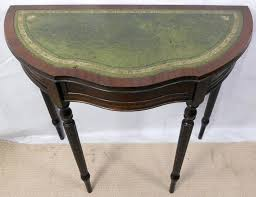 half round console table leather top small sold