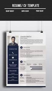 One Page Resume Templates Modern 20 Modern Cv Resume Templates And Cover Letter Resume