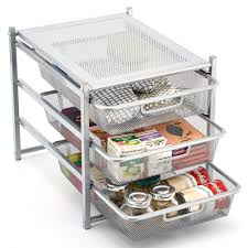 Amazoncom Ezoware 3 Tier Pull Out Organizer Cabinet Sliding Drawer